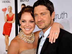 Gerard Butler and Katherine Heigl at the The Ugly Truth premiere