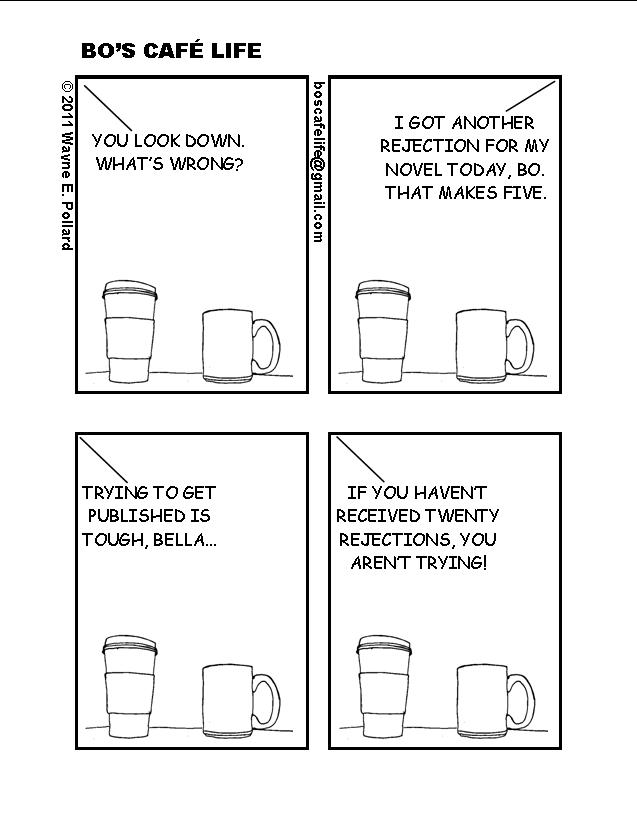 writer rejection cartoon via bo's café life
