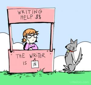 One of LittleZotz Writing's many awesome illustrations.