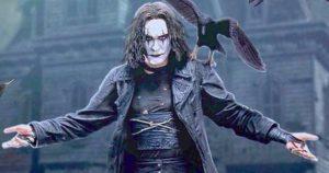 Brandon Lee as Eric Draven, The Crow. Image via movieweb.