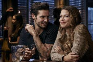 Younger Josh (Nico Tortorella) and Liza (Sutton Foster)